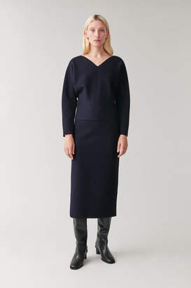 Cos KNITTED SKIRT WITH TUBULAR SEAMS