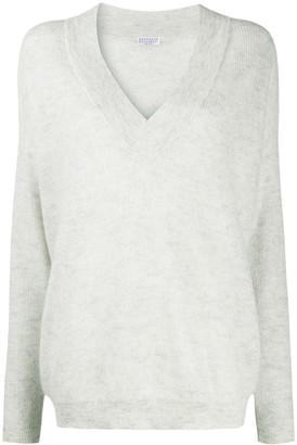 Brunello Cucinelli Fine Knit V-Neck Sweater