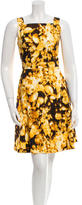 Carolina Herrera Sleeveless Floral Print Dress