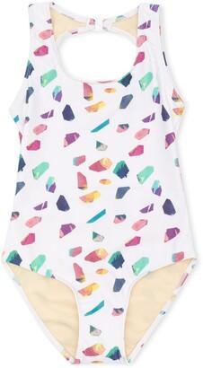 Andorine Crystals Print Swimsuit