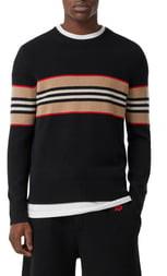 Burberry Icon Stripe Cashmere Sweater