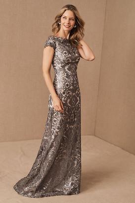 Tadashi Shoji Odette Dress By in Silver Size 2