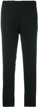 P.A.R.O.S.H. Elasticated Waist Cropped Trousers