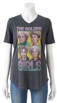 Juniors' The Golden Girls V-Neck Graphic Tee