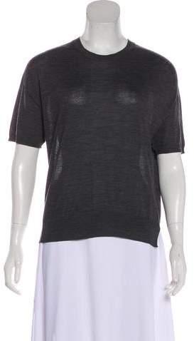 Prada 2015 Virgin Wool Short Sleeve Top