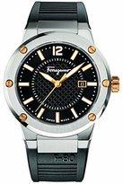 Salvatore Ferragamo Men's FIF010015 F-80 Analog Display Quartz Black Watch