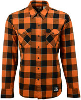 Levi's Men's Cincinnati Bengals Plaid Barstow Western Long-Sleeve Shirt