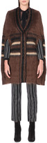 Givenchy Striped mohair-blend cape