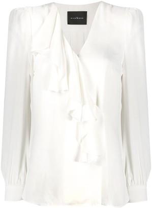 John Richmond ruffle-trimmed blouse