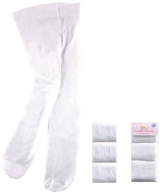 Luvable Friends Nylon Tights, 3-Pack,0 Months-4T