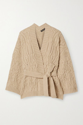 Loro Piana Cable-knit Cashmere Cardigan - Beige
