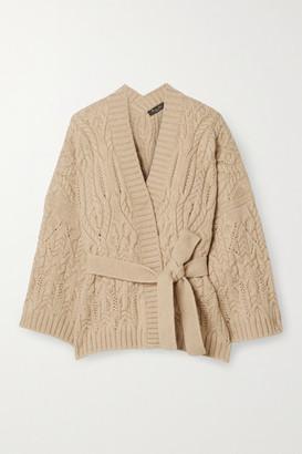 Loro Piana Cable-knit Cashmere Cardigan - Beige