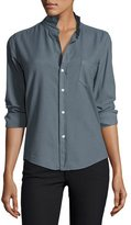 Frank And Eileen Barry Cotton Oxford Shirt, Blue Gray