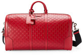 Gucci Signature Large Leather Duffel Bag, Red