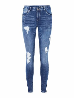 Name It NOISY MAY Women's Nmkimmy Nw Ankle Zip Jeans Az003mb Noos Skinny
