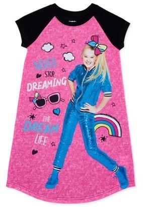 Jojo Siwa Girls Short Sleeve Nightgown Pajama Set, Sizes 6-12