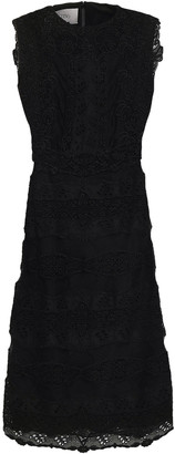 Valentino Broderie Anglaise Wool And Silk-blend Dress