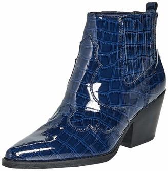 Sam Edelman Womens Winona Baltic Navy Soft Croco Patent Leather 6.5 M