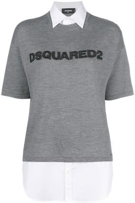 DSQUARED2 logo short-sleeve sweater