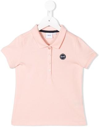 Boss Kids Contrast Logo Polo Shirt