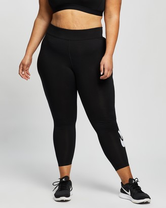 Nike Women's Black Tights - Plus Leg-A-See High Rise Leggings - Size XL at The Iconic