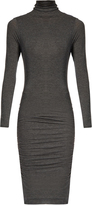 Velvet by Graham & Spencer Lordes ruched-side high-neck dress