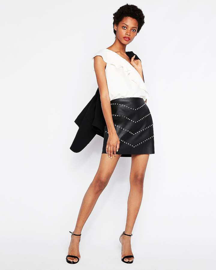 eed3d591e Leather Skirt Express - ShopStyle