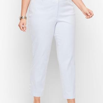 Talbots Perfect Crop Pants - Stripe