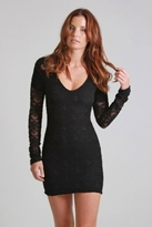 Nightcap Clothing Iris Lace Dress in Black