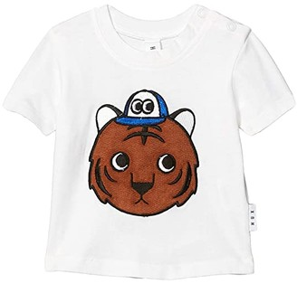 HUXBABY Tiger T-Shirt (Infant/Toddler) (White) Kid's Clothing