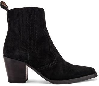 Ganni Western Boot in Black | FWRD