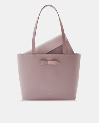 Ted Baker Bow Detail Leather Shopper Bag