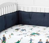 Pottery Barn Kids Organic Vintage Soccer Crib Fitted Sheet