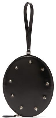Simone Rocha Studded Leather Wristlet Clutch - Black
