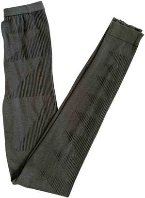 Rick Owens Grey Wool Trousers