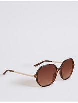 M&S Collection Hexagonal Frame Oversized Sunglasses