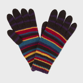 Paul Smith Men's Signature Stripe Wool-Blend Gloves