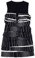 BCBGMAXAZRIA Maz Azria Black & White Tiered Shift Dress