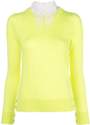 Adam Lippes Lace Collar Jumper