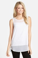 Vince Camuto Women's Sleeveless Mixed Media Top