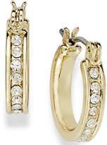 Charter Club Gold-Tone Crystal Mini Hoop Earrings