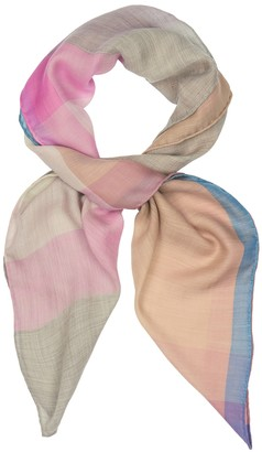 Begg & Co Wispy checked cashmere scarf