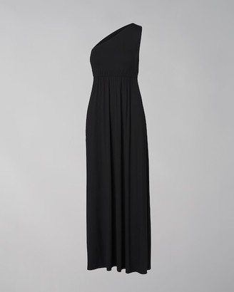 Soma Intimates One-Shoulder Maxi Dress With Built-In Bra