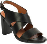 Pierre Dumas Black Cross-Strap Nancy Sandal
