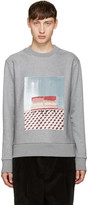 MSGM Grey Graphic Pullover