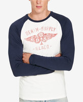 Denim & Supply Ralph Lauren Men's Graphic Long-Sleeve Baseball T-Shirt