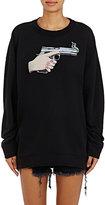 Off-White Women's Gun-Graphic Cotton Terry Oversized Sweatshirt