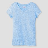 Cat & Jack Girls' V-Neck Textured T-Shirt