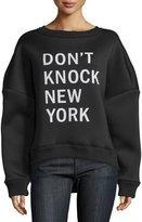 DKNY Don't Knock New York Pullover Sweatshirt, Black