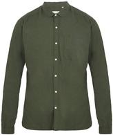 Oliver Spencer Eton round-collar flannel-cotton shirt